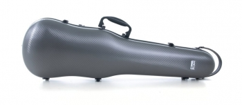 PURE by GEWA Violin Case, Polycarbonate 1.8, Shaped, Grey/Black, w/Subway Handle