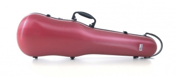PURE by GEWA Violin Case, Polycarbonate 1.8, Shaped, Red/Black w/Subway Handle