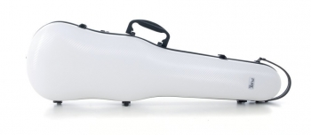 PURE by GEWA Violin Case, Polycarbonate 1.8, Shaped, White/Black w/Subway Handle