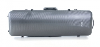 PURE by GEWA Violin Case, Polycarbonate 2.4, Oblong, Grey/Black w/Subway Handle