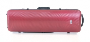 PURE by GEWA Violin Case, Polycarbonate 2.4, Oblong, Red/Black w/Subway Handle