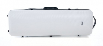 PURE by GEWA Violin Case, Polycarbonate 2.4, Oblong, White/Black w/Subway Handle