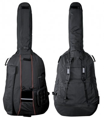GEWA Double Bass Gig-Bag, Premium, 10mm padding, 1/2, Black