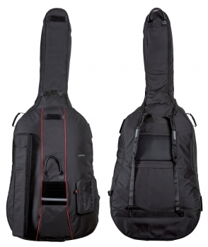 GEWA Double Bass Gig-Bag, Prestige, 25mm padding, 4/4, Black