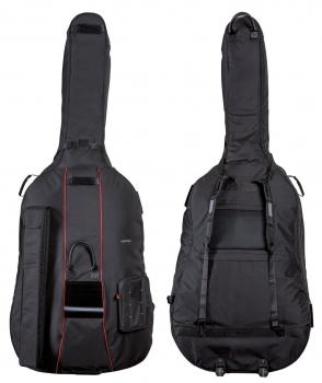 GEWA Double Bass Gig-Bag, Prestige Rolly, 25mm padding, 4/4, Black