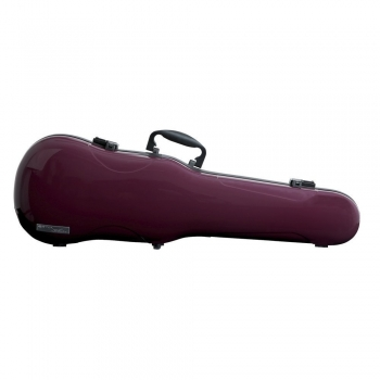 GEWA Violin Case, Air 1.7, Shaped, 4/4, Purple/Black, High Gloss w/Subway Handle