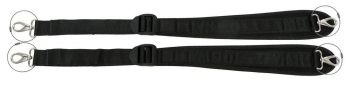 "Rucksack Strap Pair, 40mm (1.5"") Wide, 56-96cm (22-37 13/16"") Long, Chrome Plated Snaps w/Loop"