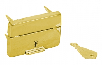 Replacement Swiss Lock, Brushed Gold