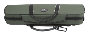 Pedi Violin Case, NiteFlash, 4/4, Olive Green/Grey