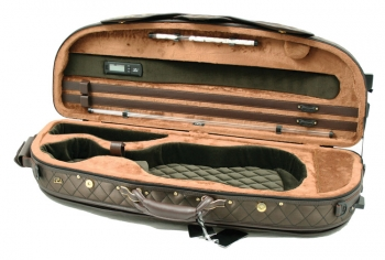 Pedi Violin Case, Model 8300, 4/4, Chocolate/Camel