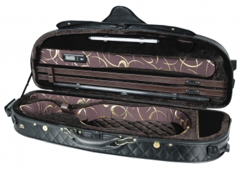 Pedi Violin Case, Model 8300, 4/4, Black/Dark Brown