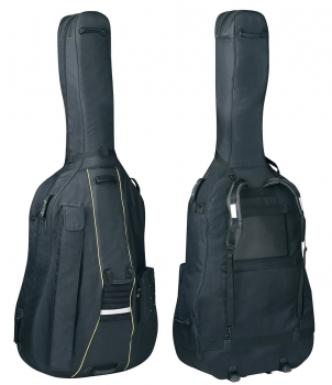 GEWAPURE Double Bass Gig-Bag, Classic BS25, 25mm padding, Wheels, 4/4, Black