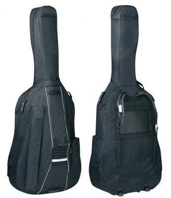 GEWAPURE Double Bass Gig-Bag, Classic BS25, 25mm padding, Wheels, 3/4, Black