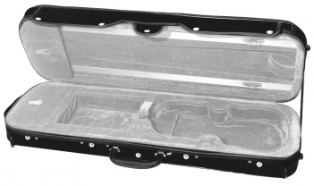 GEWAPURE Violin Case, CVK01, 4/4, Black/Light Grey