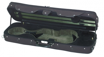 GEWAPURE Violin Case, CVK03, 4/4, Black/Two-Tone Dark Moss Green